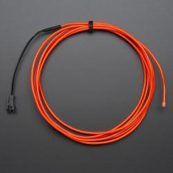 Przewód elektroluminescencyjny 2,5m - czerwony
