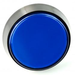 Arcade Push Button 60mm czarna obudowa - niebieski z podświetleniem