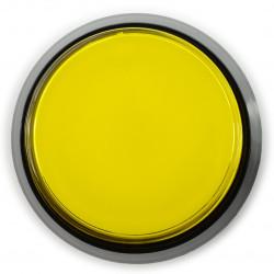 Arcade Push Button 60mm czarna obudowa - żółty z podświetleniem