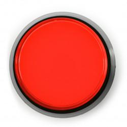 Arcade Push Button 60mm czarna obudowa - czerwony z podświetleniem