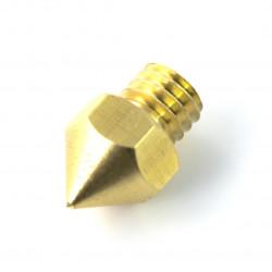 Dysza 0,2mm MK8 - filament 1,75mm - miedź