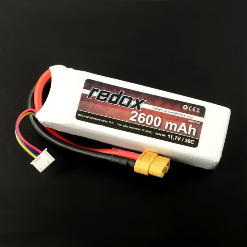 Pakiet Li-Pol Redox 2600mAh 30C 3S 11.1V