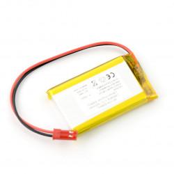 Akumulator Li-Po 3,7V / 1400mAh, PCM, konektor + gniazdo 2,54 JST