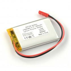 Akumulator Li-Po 3,7V / 1200mAh, PCM, konektor + gniazdo 2,54 JST