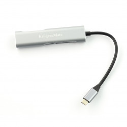 Adapter (HUB) USB typu C na HDMI / USB 3.0 / SD / MicroSD / C port