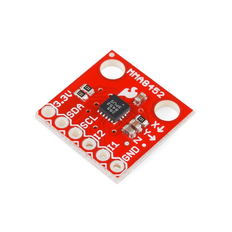 MMA8452Q 3-axis I2C digital accelerator module - SparkFun SEN-12756*