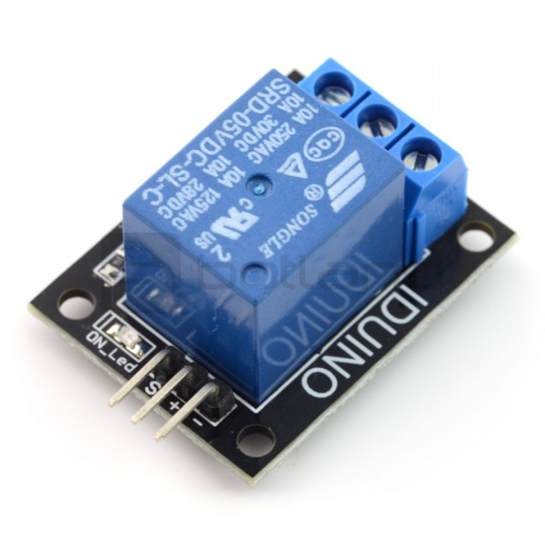 Relay module 1 channel - 10A / 250VAC contacts - 5V coil*