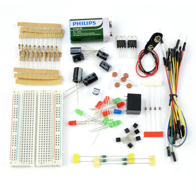 FORBOT - podstawy elektroniki - zestaw elementów + bezpłatny kurs ON-LINE