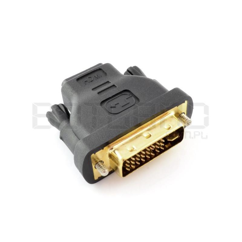Przejściówka HDMI (gniazdo) - DVI-D (wtyk)