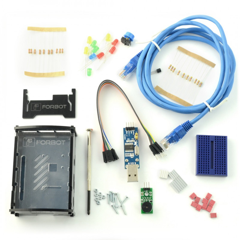 FORBOT KIT - set of elements for Raspberry Pi KIT + free ON-LINE course*