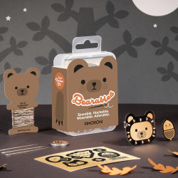 Bearables Bear Kit - zestaw naklejek z diodami LED i czujnikiem ruchu