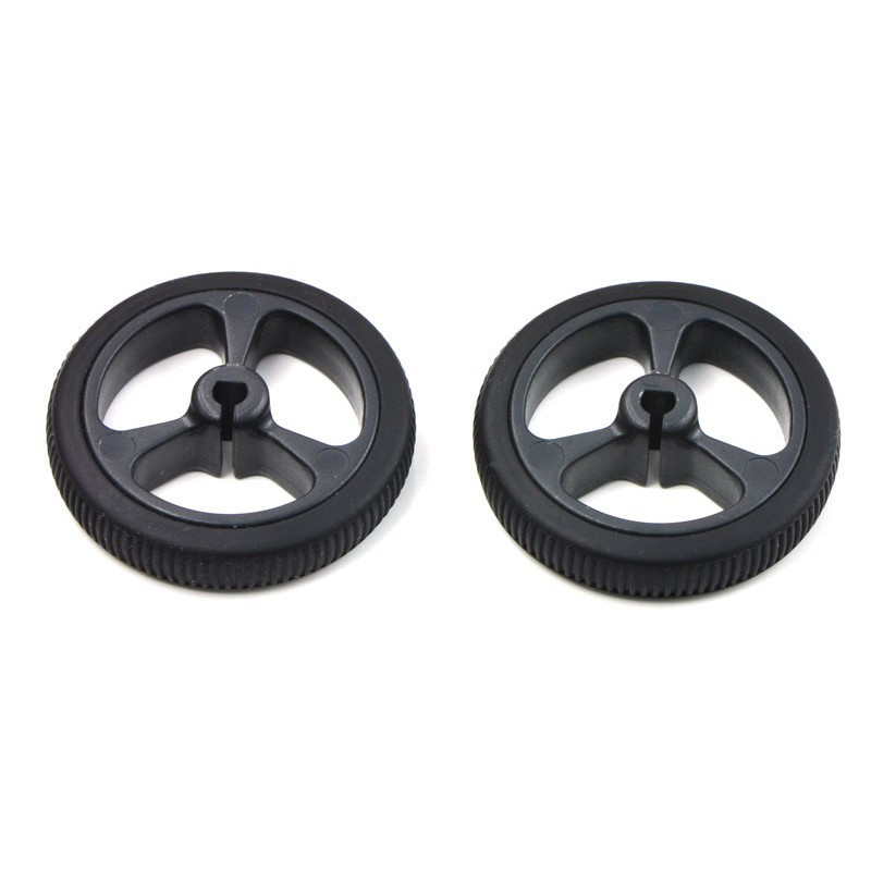 Pololu 1087 - wheels 32x7mm - black - 2pcs