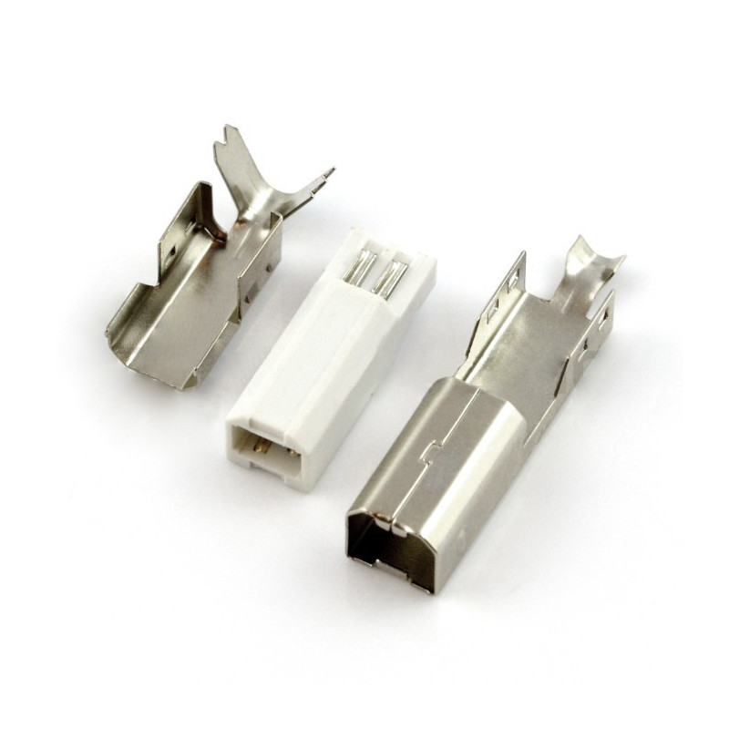 USB type B plug for cable