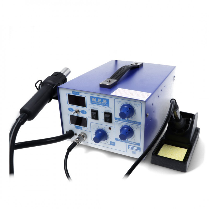 Soldering station 2in1 hotair and tip-based WEP 872D compressor - 700W_