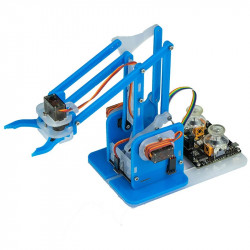 Ramię robota MeArm dla micro:bit - niebieskie