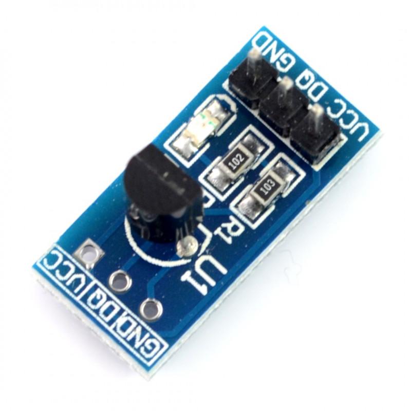 Czujnik temperatury DS18B20+ - moduł niebieski