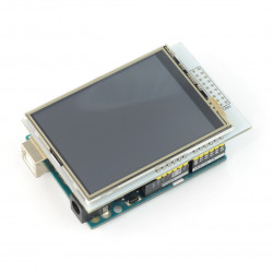 "Display touch TFT LCD screen of 2.8"" 320x240px with microSD - pad on the Arduino"