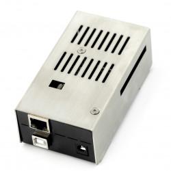 Obudowa do Arduino Mega z Ethernet Shield - stalowa czarna