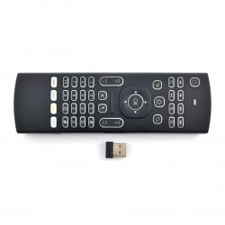 Klawiatura bezprzewodowa MX3 klawiatura + mysz Air Mouse + wybieranie głosowe - bezprzewodowa 2,4GHz