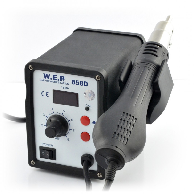 Soldering station hotair WEP 858D with fan in iron - 700W