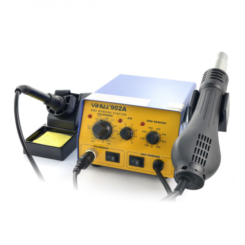 """Soldering station hotair and tip-based 2in1 Yihua 902A - 700W_"