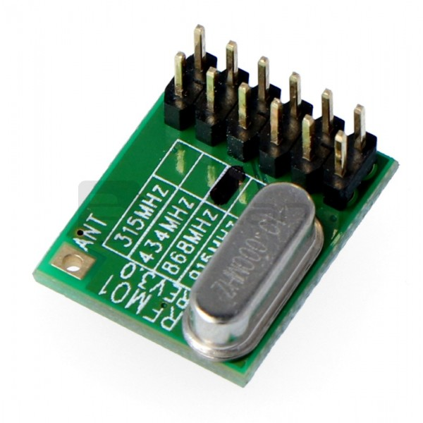 Moduł radiowy - RFM01/868D 868MHz - odbiornik THT