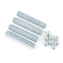 Metal spacers M2,5 30mm + screws - 4pcs