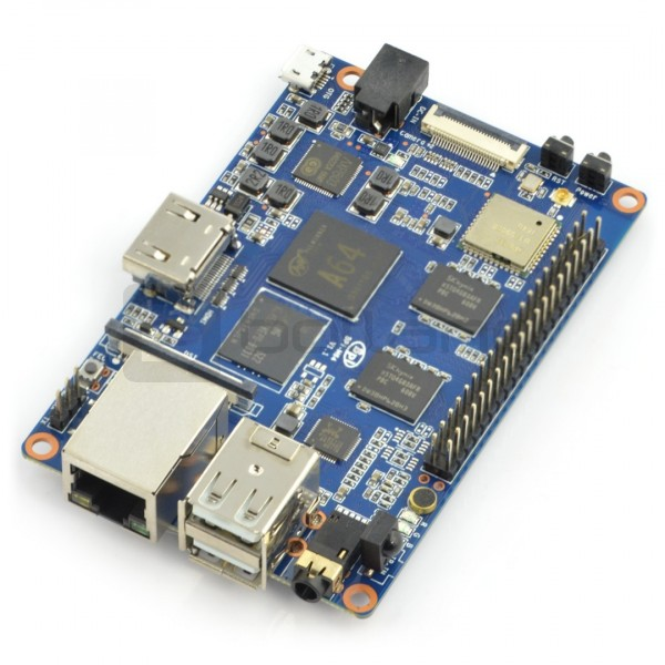 Banana Pi M64 2GB RAM + 8GB EMMC Quad-Core WiFi + BT 4 0*