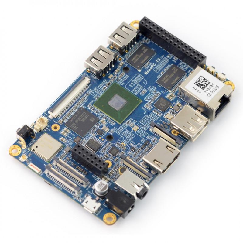 NanoPC T3 Plus - Samsung S5P6818 Octa-Core 1,4GHz + 2GB RAM + 16GB EMMC- WiFi + Bluetooth 4.0*