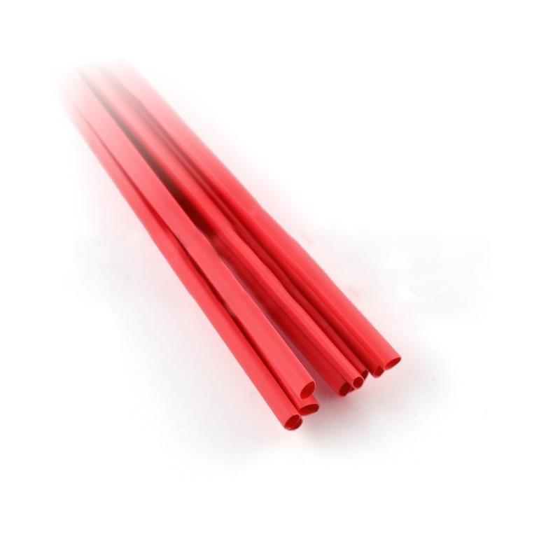 Rurka termokurczliwa 1,6/0,8 czerwona - 10szt.