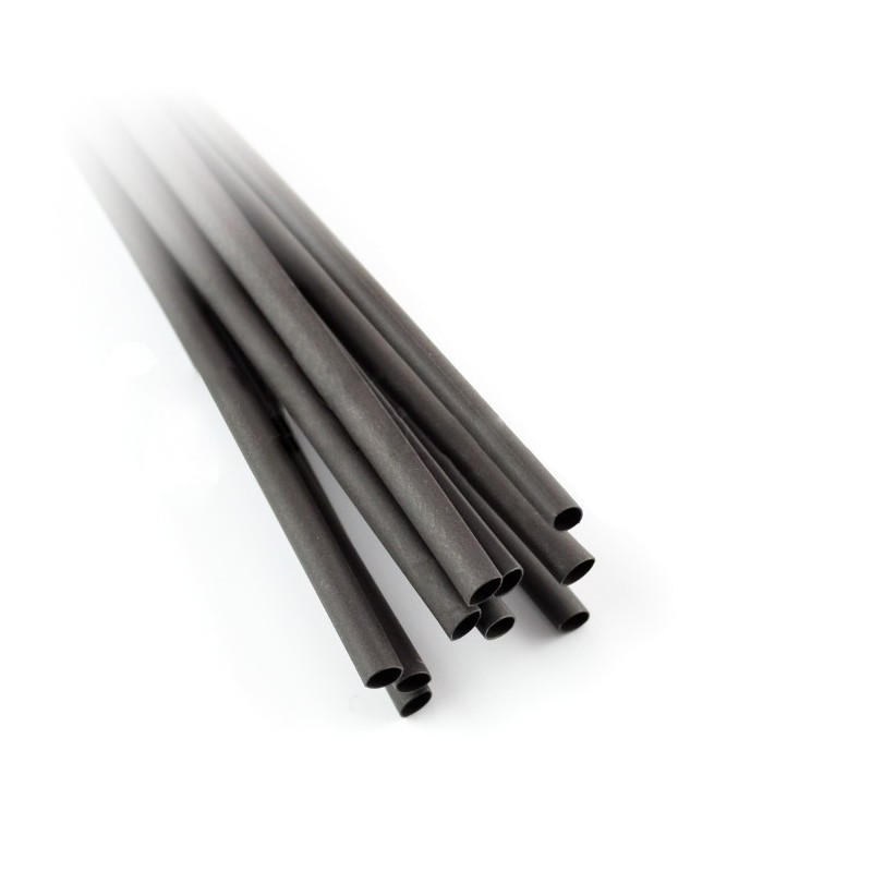 Heat shrink tube 1.6/0.8 black - 10pcs_