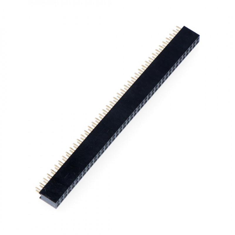 Listwa goldpin 2x40 żeńska raster 2,54mm