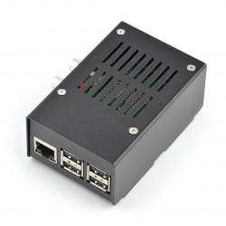 Obudowa do HiFiBerry i Raspberry Pi Model 3/2/B+ stalowa czarna
