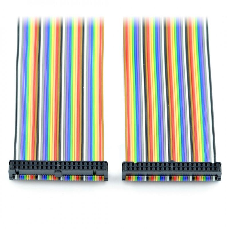 Przewód IDC 40 pin żeńsko-żeński 40 cm Raspberry Pi 4B/3B+/3B/2B