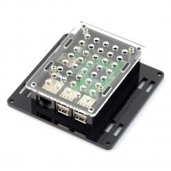 Obudowa Raspberry Pi model 3/2/B+ Vesa v2 do montażu na monitor - czarno-przezroczysta