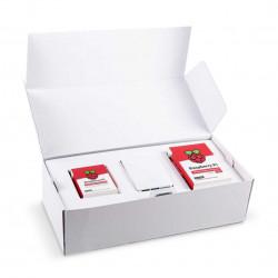 Desktop Kit zestaw z obudową oraz klawiaturą i myszką czerwono-białą dla Raspberry Pi 4B
