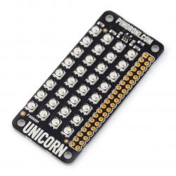 Unicorn pHAT - nakładka z matrycą LED dla Raspberry Pi