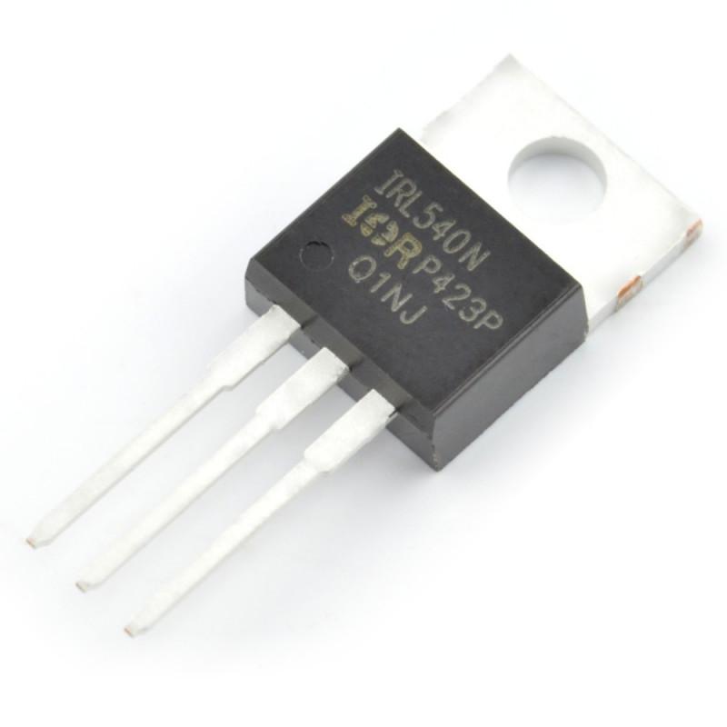 Tranzystor N-MOSFET IRL540NPBF - THT - 5szt.