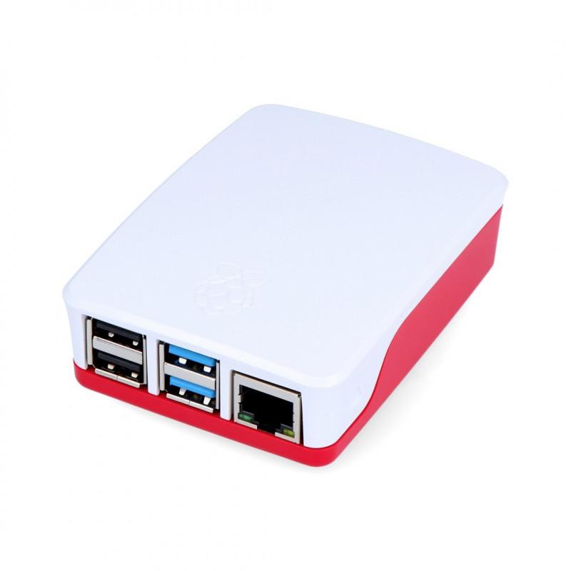 Obudowa Raspberry Pi 4B oficjalna - czerwono-biała