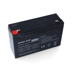 Akumulator żelowy 6V 12Ah Green Cell