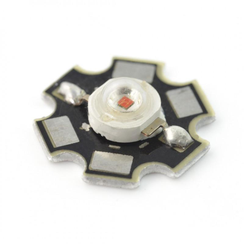 Dioda IR Power LED Star 1 W - podczerwona 940 nm z radiatorem