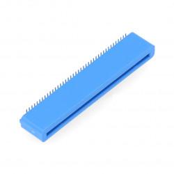 Gniazdo żeńskie 40-pin kątowe dla BBC micro:bit - niebieskie