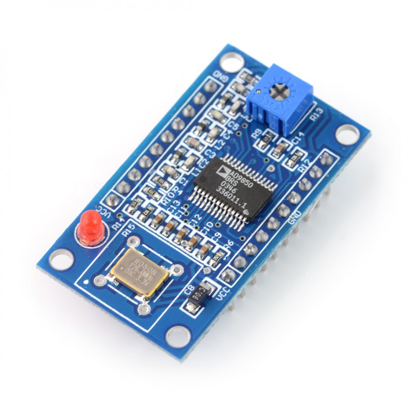 Sine/rectangle signal generator DDS AD9850 40 MHz_