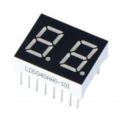 Seven-segment display x2 - 16mm green - common cathode