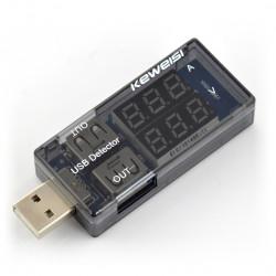 Miernik prądu i napięcia z portu USB Keweisi