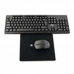 Zestaw bezprzewodowy klawiatura + mysz AK-48A USB + podkładka
