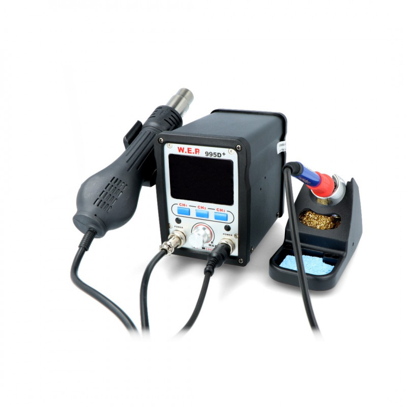 Soldering station hotair and tip-based WEP 995D+ with fan in iron - 720W_