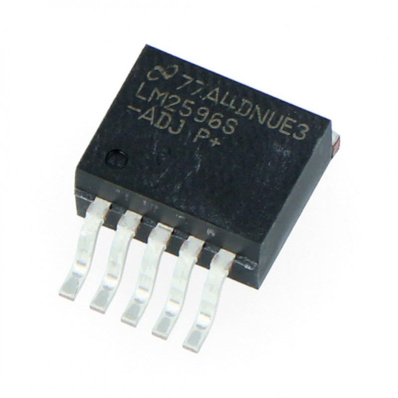 Przetwornica step-down - LM2596S-ADJ TO263 1,23V-37V 3A