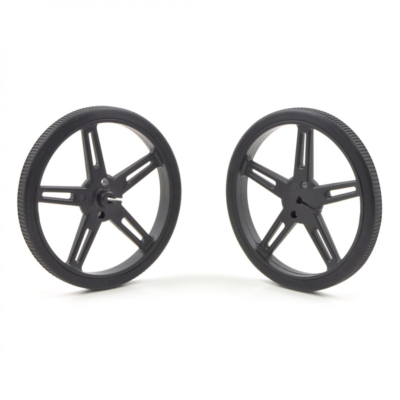 70x8mm Wheels - black - Pololu 1425*