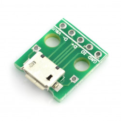 5pin microUSB to DIP adapter
